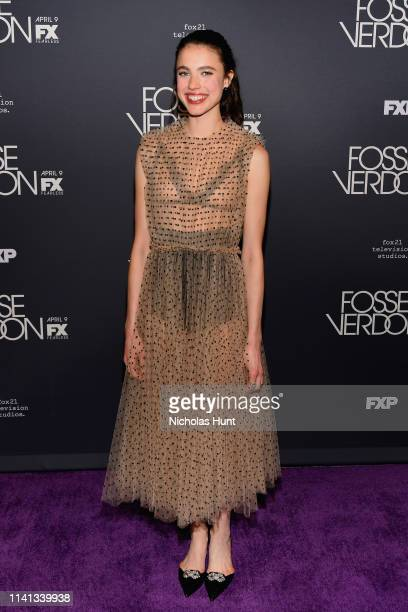 """Actress Margaret Qualley attends the New York Premiere for FX's """"Fosse/Verdon"""" on April 08, 2019 in New York City."""