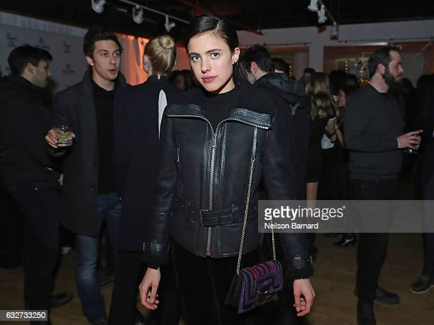 Actress Margaret Qualley attends the 'Sidney Hall' Party at the Acura Studio at Sundance Film Festival 2017 on January 25 2017 in Park City Utah