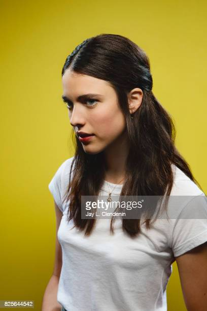 Actress Margaret Qualley from the film 'Death Note' is photographed in the LA Times photo studio at ComicCon 2017 in San Diego CA on July 20 2017...
