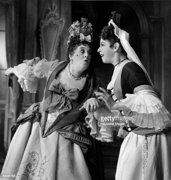 Actress Margaret Rutherford as Lady Wishfort on Congreve's, 'The Way of the World' at the Lyric Theatre, Hammersmith. Original Publication: Picture...