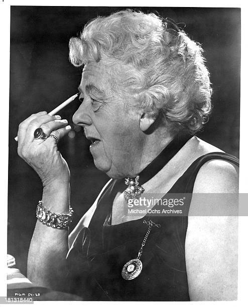 Actress Margaret Rutherford as Miss Jane Marple on the set of the movie Murder Most Foul in 1964
