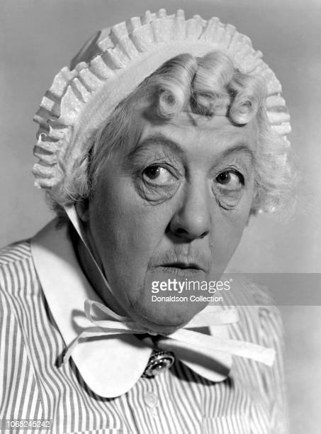 Actress Margaret Rutherford in a scene from the movie Mad About Men