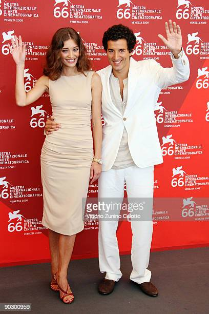 Actress Margareth Made and actor Francesco Scianna attends the Baaria photocall at the Sala Grande during the 66th Venice Film Festival on September...