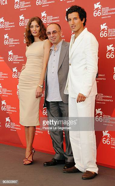 Actress Margareth Made with director Giuseppe Tornatore and actor Francesco Scianna attend the Baaria photocall at the Sala Grande during the 66th...