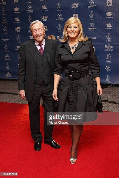 Actress Margarita Gralia and guest attends the red carpet for Lunas del Auditorio at Auditorio Nacional on October 29 2008 in Mexico City Mexico