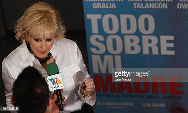 Actress Margarita Gralia during the press conference to present the play Todo Sobre Mi Madre based on the film by Pedro Almodovar at Insurgentes...