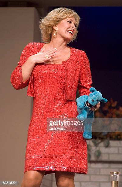 Actress Margarita Gralia in action during the play 'Entre Mujeres' based on the work of Santiago Moncada at the July 11th Theatre on August 15 2009...