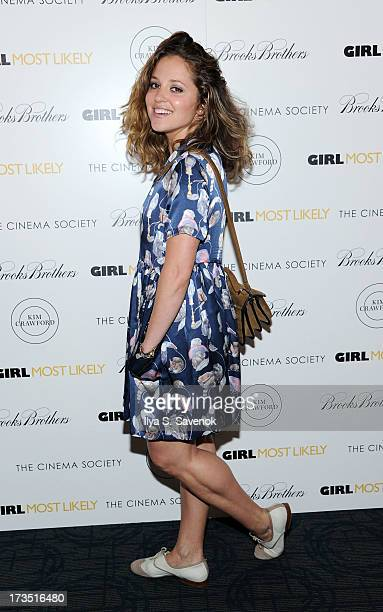 Actress Margarita Leveiva attends The Cinema Society Brooks Brothers Host A Screening Of Lionsgate And Roadside Attractions' 'Girl Most Likely's at...