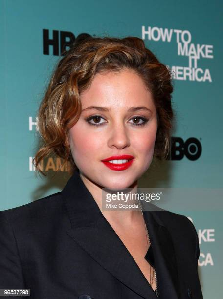 Actress Margarita Levieva attends the Cinema Society and HBO screening of How to Make it in America at Landmark's Sunshine Cinema on February 9 2010...