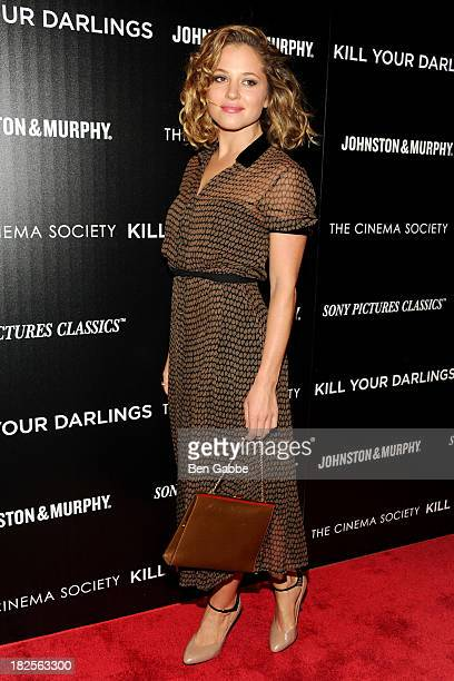 Actress Margarita Levieva attends The Cinema Society and Johnston Murphy host a screening of Sony Pictures Classics' 'Kill Your Darlings' at the...