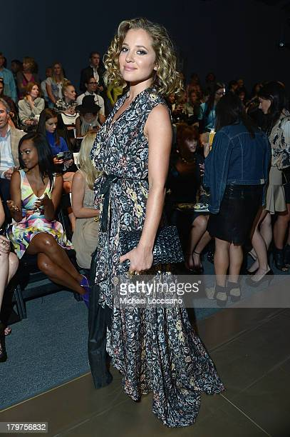 Actress Margarita Levieva attends the Nicole Miller Spring 2014 fashion show during MercedesBenz Fashion Week at The Studio at Lincoln Center on...