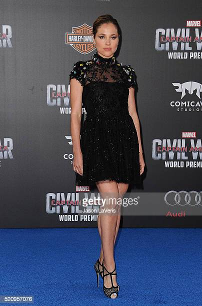 Actress Margarita Levieva attends the premiere of Captain America Civil War at Dolby Theatre on April 12 2016 in Hollywood California