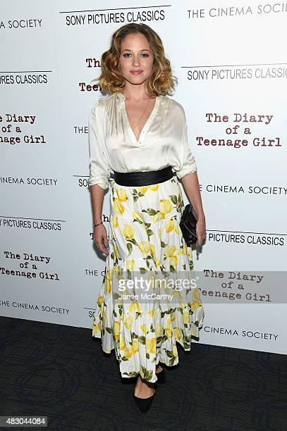 Actress Margarita Levieva attends the screening of Sony Pictures Classics The Diary Of A Teenage Girl hosted by The Cinema Society at Landmark...