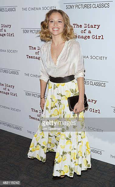 Actress Margarita Levieva attends the Sony Pictures Classics with The Cinema Society host a screening of The Diary Of A Teenage Girl at Landmark's...