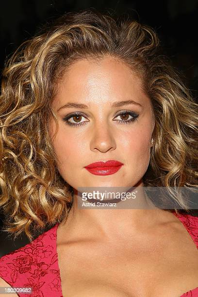 Actress Margarita Levieva poses backstage with TRESemme at the Nanette Lepore fashion show during MercedesBenz Fashion Week Spring 2014 at The Stage...