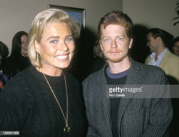 Actress Margaux Hemingway and actor Eric Stoltz attend Joan Collins' Prime Time Book Party on October 3 1988 at Mortimer's Restaurant in New York City