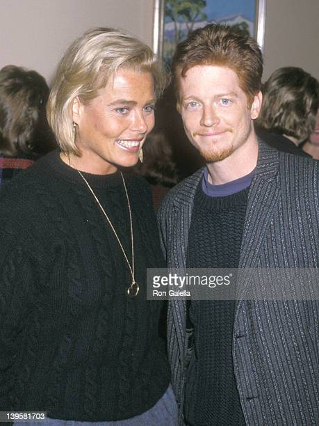 "Actress Margaux Hemingway and actor Eric Stoltz attend Joan Collins' ""Prime Time"" Book Party on October 3, 1988 at Mortimer's Restaurant in New York..."