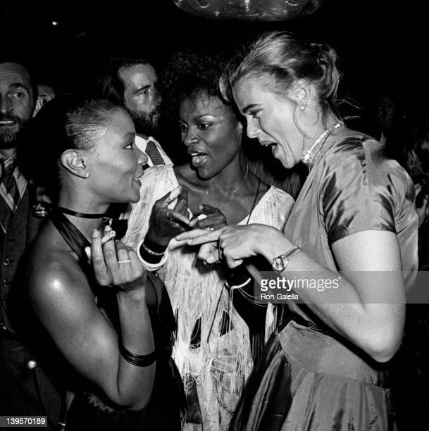 Actress Margaux Hemingway and guests attend Coty Awards Party on September 28 1978 at Studio 54 in New York City
