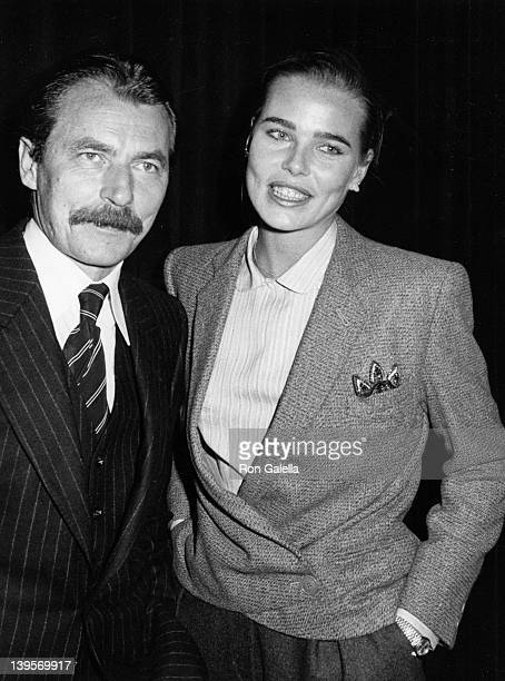 Actress Margaux Hemingway and husband Bernard Foucher attend David Kennerly's Book Party on October 17 1979 at Luchow's Restaurant in New York City