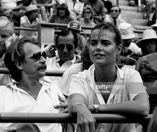 Actress Margaux Hemingway and husband Bernard Foucher attend Eighth Annual Robert F Kennedy ProCelebrity Tennis Tournament on August 25 1979 at...