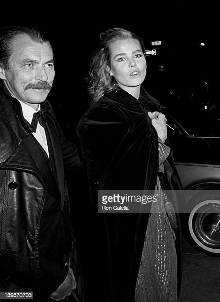 Actress Margaux Hemingway and husband Bernard Foucher attend Eighth Annual Diana Vreeland Costume Exhibition Fashions of the Hapsberg Era on December...