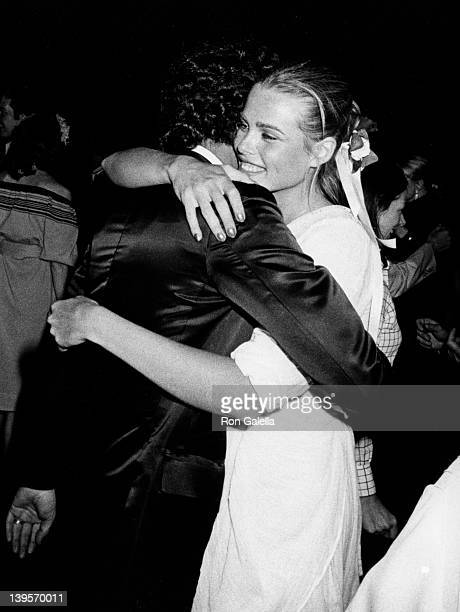 Actress Margaux Hemingway and husband Erroll Weston attend 23rd Birthday Party for Margaux Hemingway on May 12, 1975 at Gallagher's in New York City.