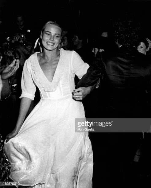 Actress Margaux Hemingway and husband Erroll Weston attend 23rd Birthday Party for Margaux Hemingway on May 12 1975 at Gallagher's in New York City