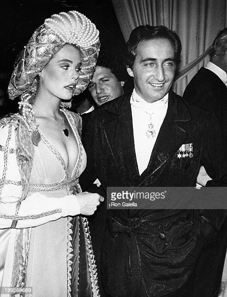 Actress Margaux Hemingway and husband Erroll Wetson attend Thalians Crown Russe Ball on February 13 1977 at the Beverly Wilshire Hotel in Beverly...