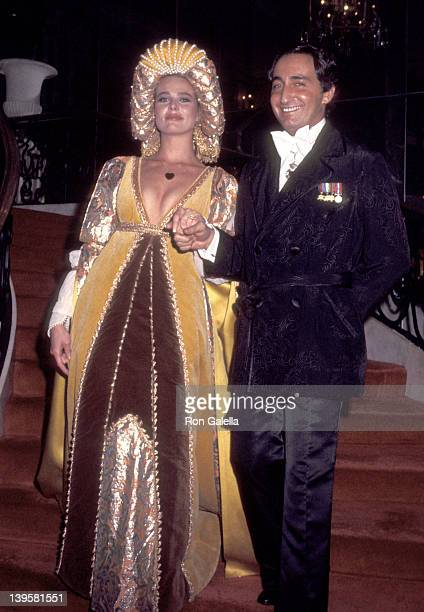 Actress Margaux Hemingway and husband Erroll Wetson attend Thalians Presidents Club's Crown Russe Ball on February 13 1977 at Beverly Wilshire Hotel...