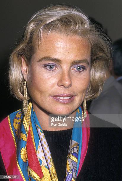 Actress Margaux Hemingway attends Joan Collins' Prime Time Book Party on October 3 1988 at Mortimer's Restaurant in New York City