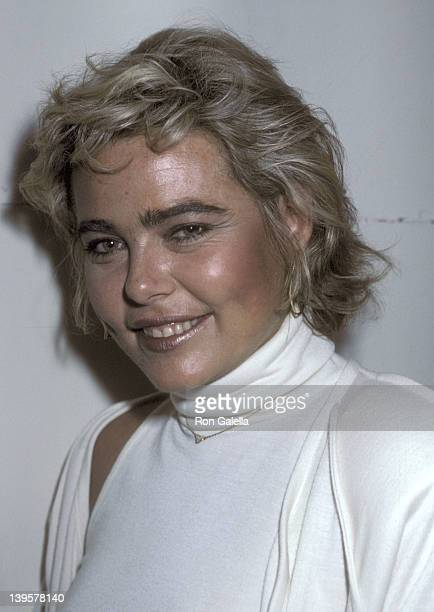 Actress Margaux Hemingway attends Peter Max's Art Exhibition Dinner Party on May 8 1985 at Marylou's Restaurant in New York City