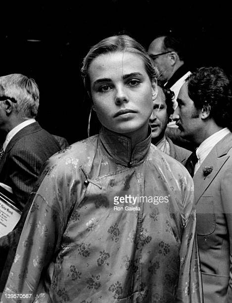 Actress Margaux Hemingway attends Straw Hat Awards on May 29 1975 at Jimmy's Restaurant in Beverly Hills California