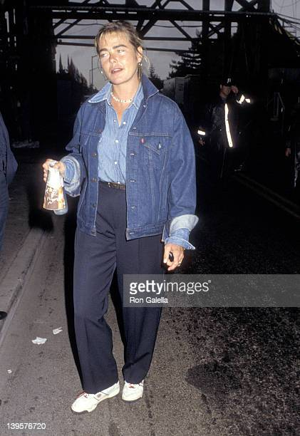 Actress Margaux Hemingway attends the 1987 US Tennis Open on September 12 1987 at Flushing Meadows Park in Flushing Queens New York