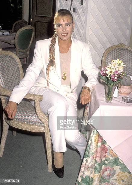Actress Margaux Hemingway attends the Cocktail Party to Celebrate Playboy Magazine's May 1990 Issue Featuring Margaux Hemingway on April 16, 1990 at...