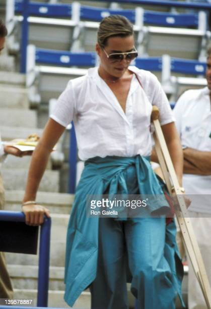 Actress Margaux Hemingway attends the Eighth Annual Robert F Kennedy ProCelebrity Tennis Tournament on August 25 1979 at Flushing Meadows Park in...
