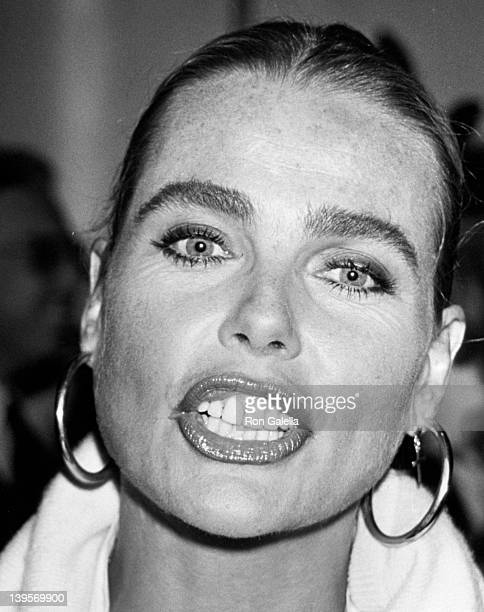 Actress Margaux Hemingway attends The Princess Grace Foundation and American Friends of Claude Pompidou Foundation Gala on Septembe 23, 1990 aboard...