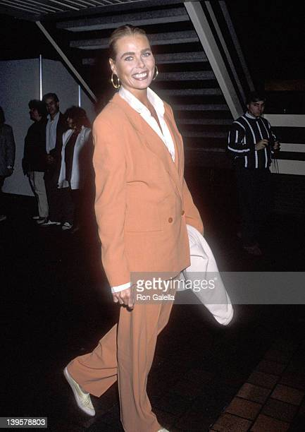 Actress Margaux Hemingway attends the Princess Grace FoundationUSA and The American Friends of the Claude Pompidou Foundation Gala on September 23...