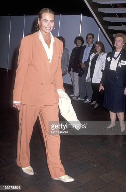 Actress Margaux Hemingway attends the Princess Grace Foundation-USA and The American Friends of the Claude Pompidou Foundation Gala on September 23,...