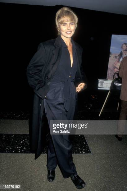 Actress Margaux Hemingway attends the Safari Planet Earth Award Honors Jim Fowler on October 30, 1995 at the Roseland Ballroom in New York City.
