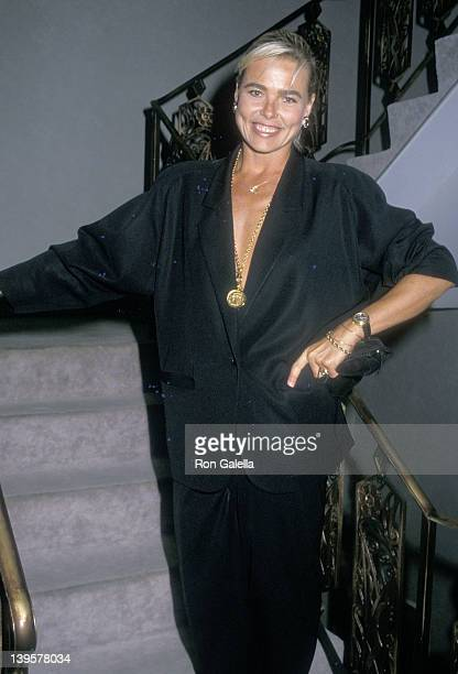 "Actress Margaux Hemingway attends the ""Sleuth"" Opening Night Party on July 6, 1988 at the St. James Club in West Hollywood, California."