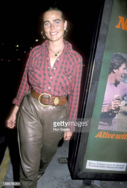 Actress Margaux Hemingway on October 9 1984 leaves Elaine's Restaurant in New York City