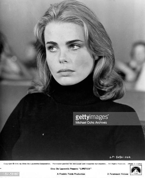 "Actress Margaux Hemingway poses for a portrait on the set of ""Lipstick"" in circa 1976."