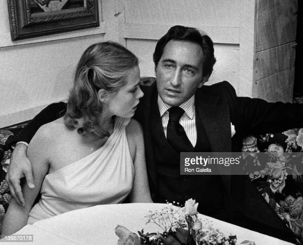 Actress Margaux Heminway and husband Erroll Wetson attend the press conference for Babe on November 17 1975 at Cecil's in New York City