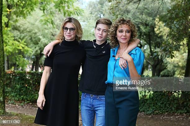 Actress Margherita Buy Andrea Pittorino and actress Valeria Golino attend a photocall for 'La Vita Possibile' at La Casa Del Cinema on September 19...