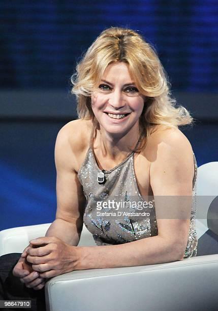 Actress Margherita Buy attends 'Che Tempo Che Fa' Italian Tv Show held at Rai Studios on April 24 2010 in Milan Italy