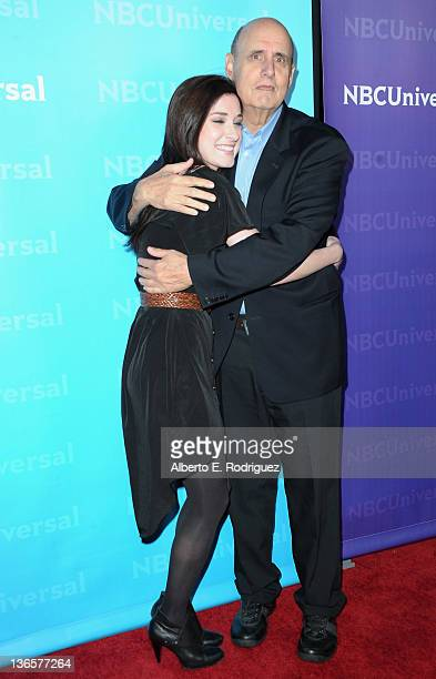 Actress Margo Harshman and Jeffrey Tambor arrive to the NBC Universal 2012 Winter TCA Tour AllStar Party on January 6 2012 in Pasadena California