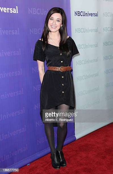 Actress Margo Harshman arrives to the NBC Universal 2012 Winter TCA Tour AllStar Party on January 6 2012 in Pasadena California