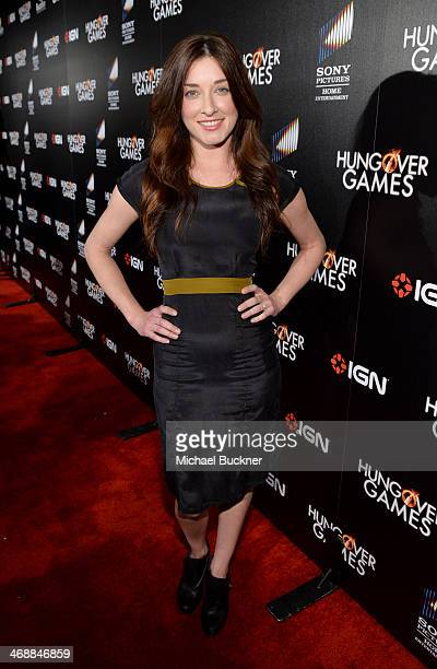 """Actress Margo Harshman attends the """"The Hungover Games"""" cast & crew screening at TCL Chinese 6 Theatres on February 11, 2014 in Hollywood, California."""