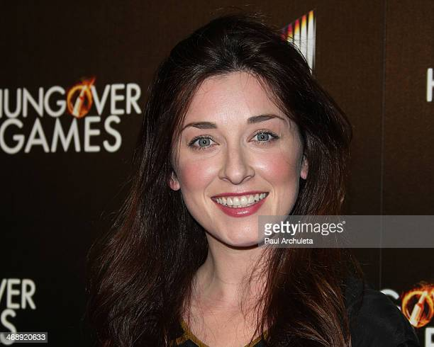"""Actress Margo Harshman attends the """"The Hungover Games"""" premiere at the TCL Chinese Theatre on February 11, 2014 in Hollywood, California."""