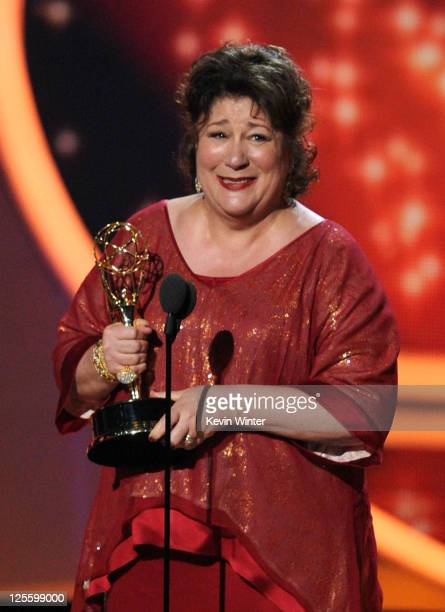 Actress Margo Martindale accepts the Outstanding Supporting Actress in a Drama Series award onstage during the 63rd Annual Primetime Emmy Awards held...